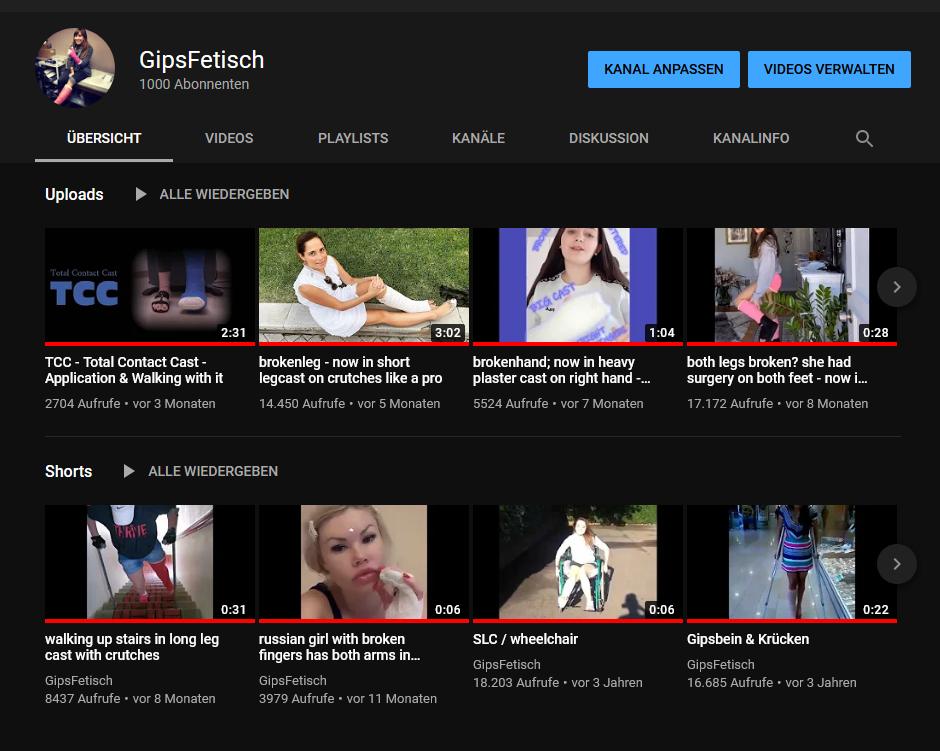 Gipsfetisch YouTube Channel