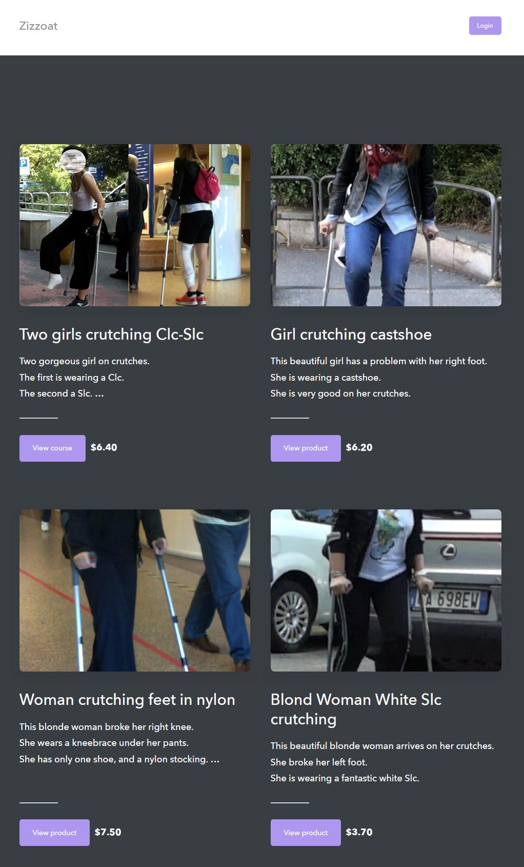 Zizzoat - Italian legcast .. crutching .. wheelchair .. sprain
