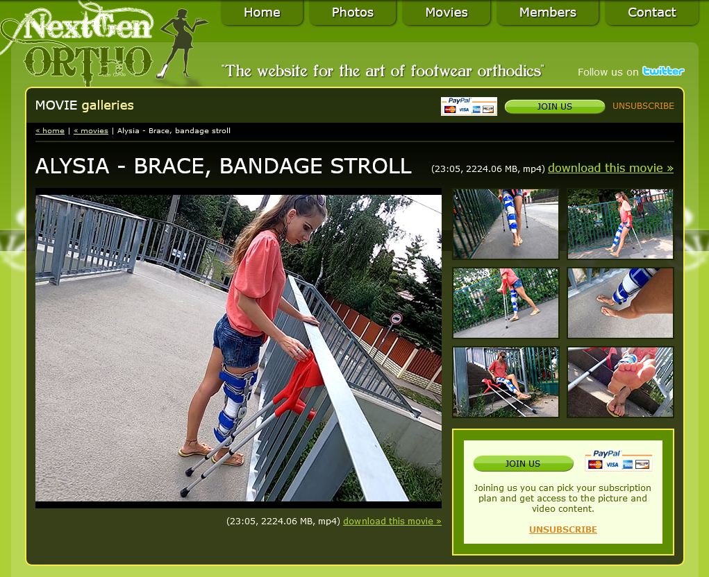 Alysia - kneebrace & crutches