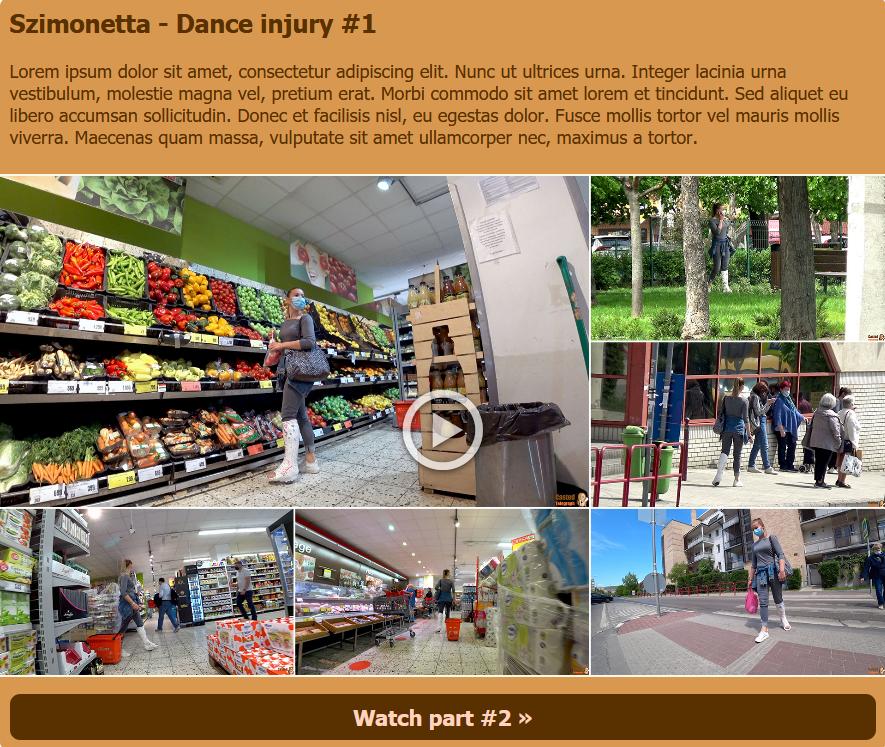 Szimonetta - Dance injury (white plaster SLWC outdoor/shopping)