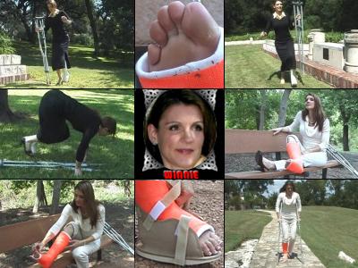 Winnie Working MILF's Angled llc and slc Crutching, Hopping and Toe Wiggling.