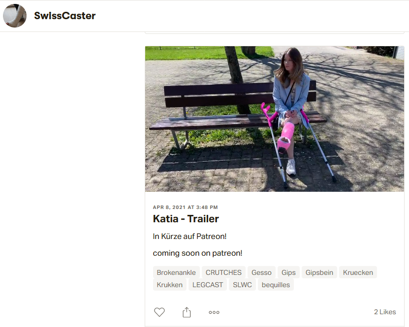 Beautyfull Katia crutching in public with pink short leg walking cast - Part 1