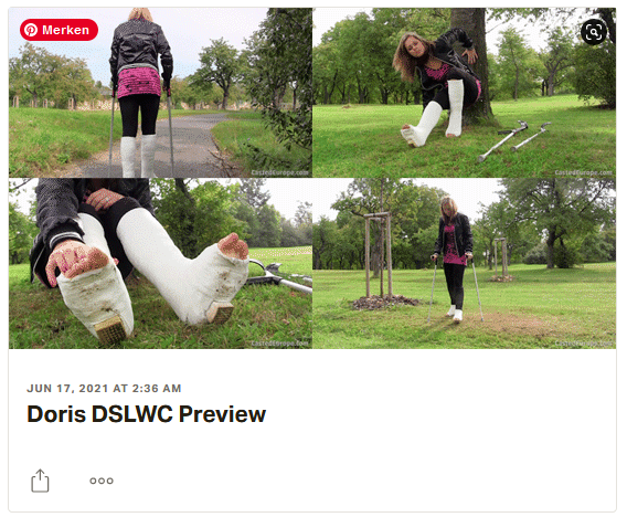 3 new videos: Emilia plaster LLWC, Doris both legs in plaster SLC's, Renata in plaster LLWC