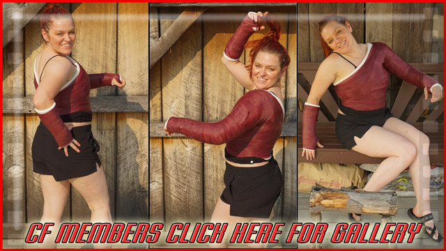 Amanda's Dark Red Public SS & SAC - I forgot how great of a model Amanda was. A woman at Target said to Amanda