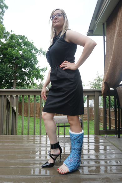 Jessica, blue SLC with a rubber walking heel