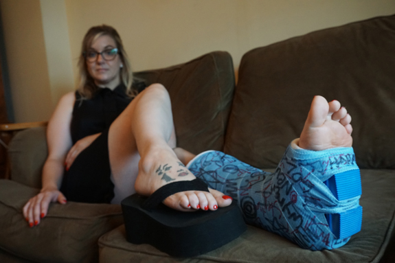 Jessica, blue SLC with a rubber walking heel (Gallery Update)
