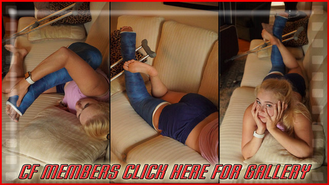 Angel's Dark Blue LLC - And now one more gallery to wrap up this set. Angel's on the couch posing her legs around and looking bored just like in the beginning of the clip. Enjoy these 50 pics!