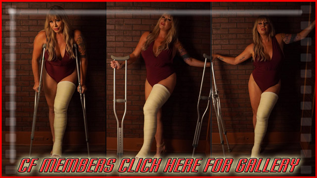 Jamie Knotts LLC - This gallery is 50 great shots of the beautiful Jamie Knotts posing on crutches in a sexy outfit and high heel. Stay tuned for more Jamie Knotts pics and an epic Jessica Lynn clip.