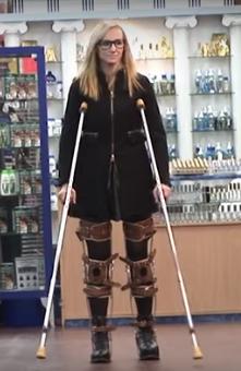 Ellie in KAFO Leg Braces...