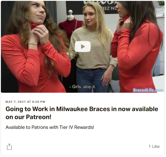 Going to Work in Milwaukee Braces. 2 girls in milwaukee braces. Update link = YouTubePreview.
