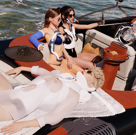 Summer! Unfortunately, these ladies did not make it into LewdCasts's and Vanhthefury 's SUMMER! Exhibition as they completly lost track of time relaxing on the lake. But who can blame them with such wonderfull weather!