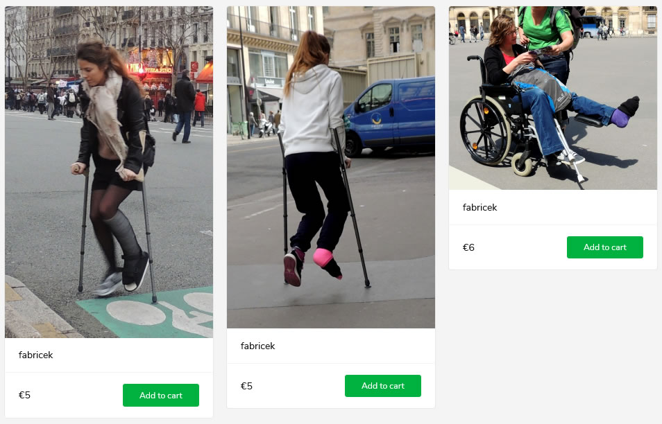 3 new sets of women in their plaster-boots - two on crutches, one in wheelchair.