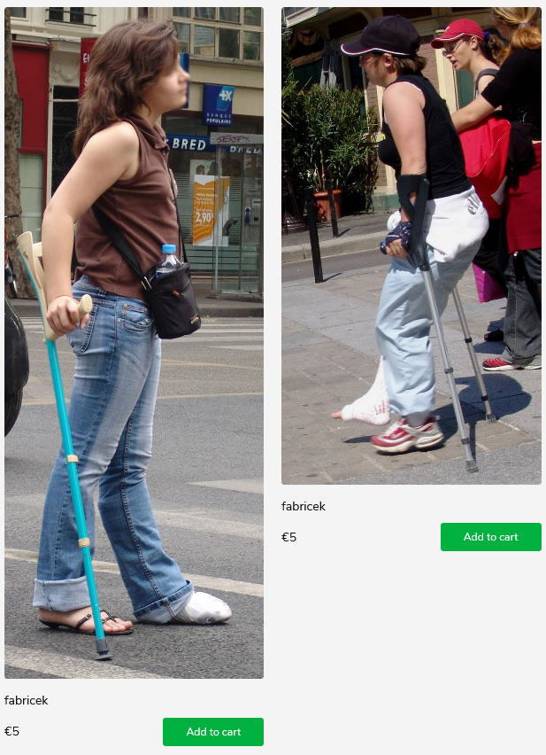 2 girls with casted feet on crutches