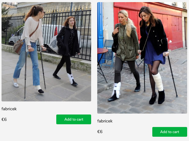 2 sets of javier's models - wearing cast & ankle brace