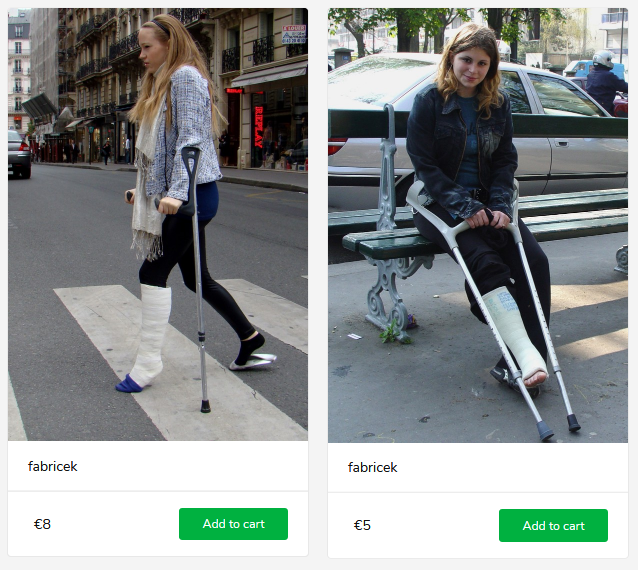 2 new sets (girls in SLC, one in tip-toe position on crutches)