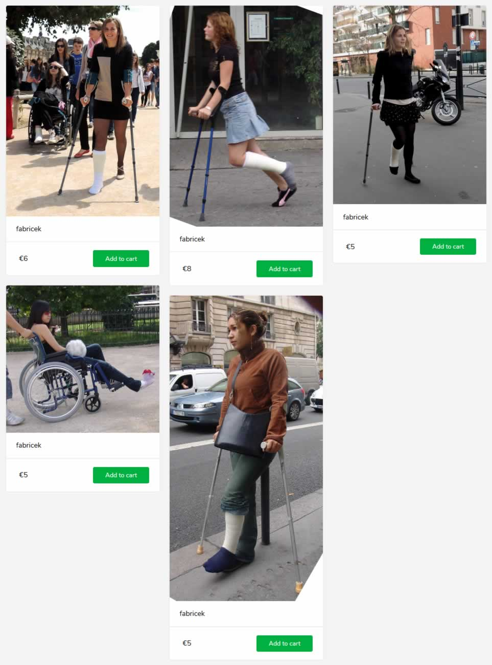 5 new sets (girls in SLC, on crutces, with socks and in wheelchair)