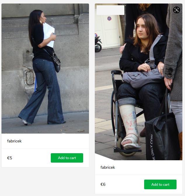 2 new sets (girl with broken leg in wheelchair)
