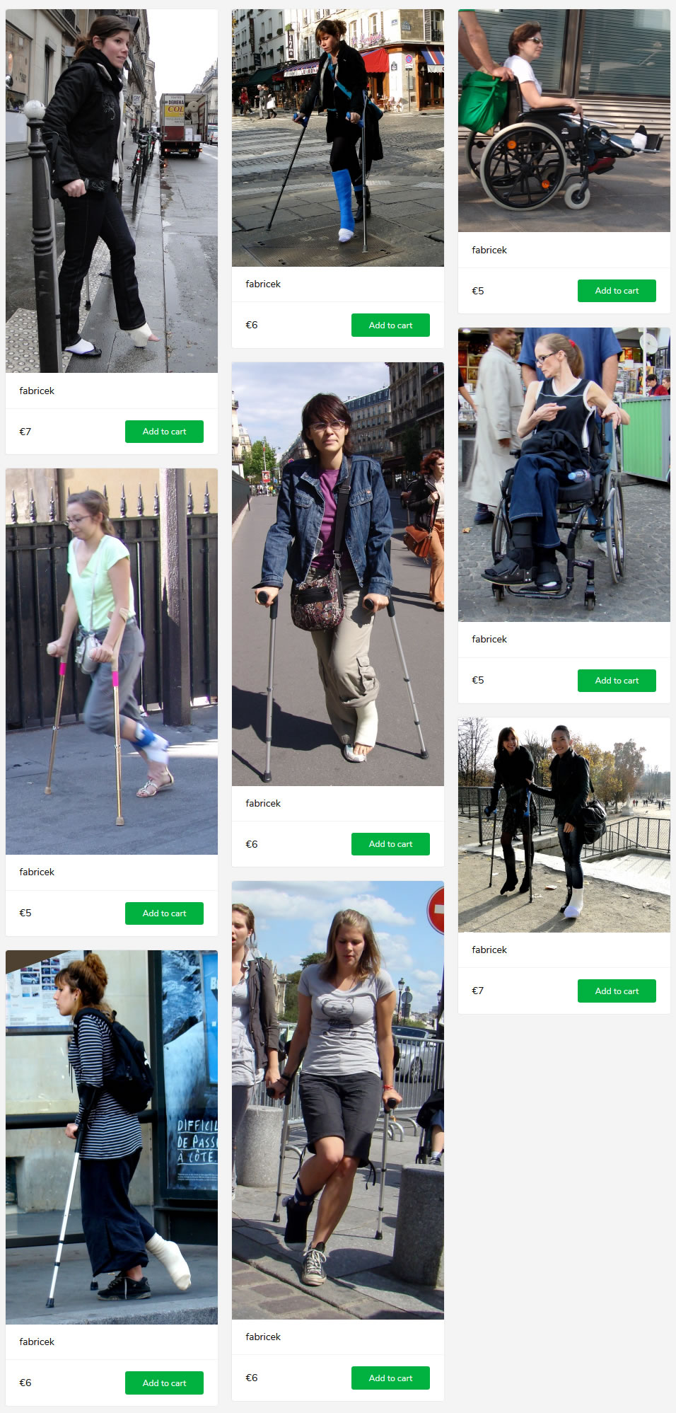 9 new sets - including casted models, different casts and bandages, on crutches, in wheelchair. Take a look.