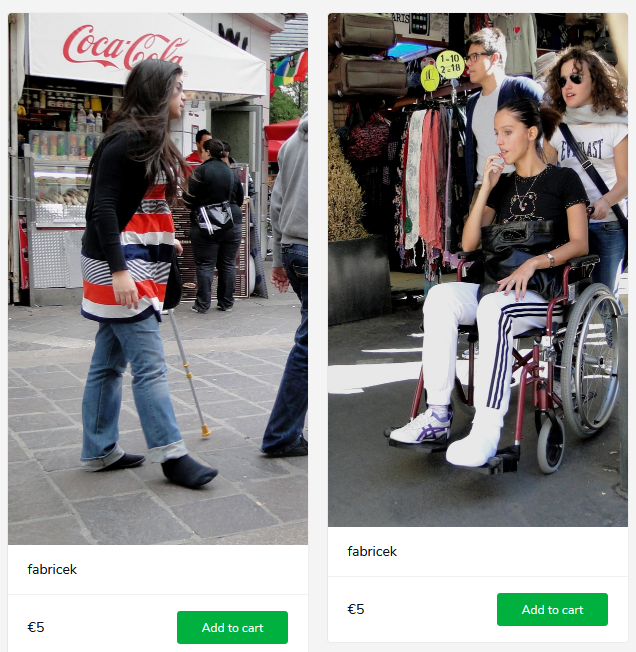 2 new sets (girls with casts - in wheelchair and on crutches)