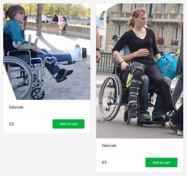 2 new sets (woman with cast and brace in wheelchair)