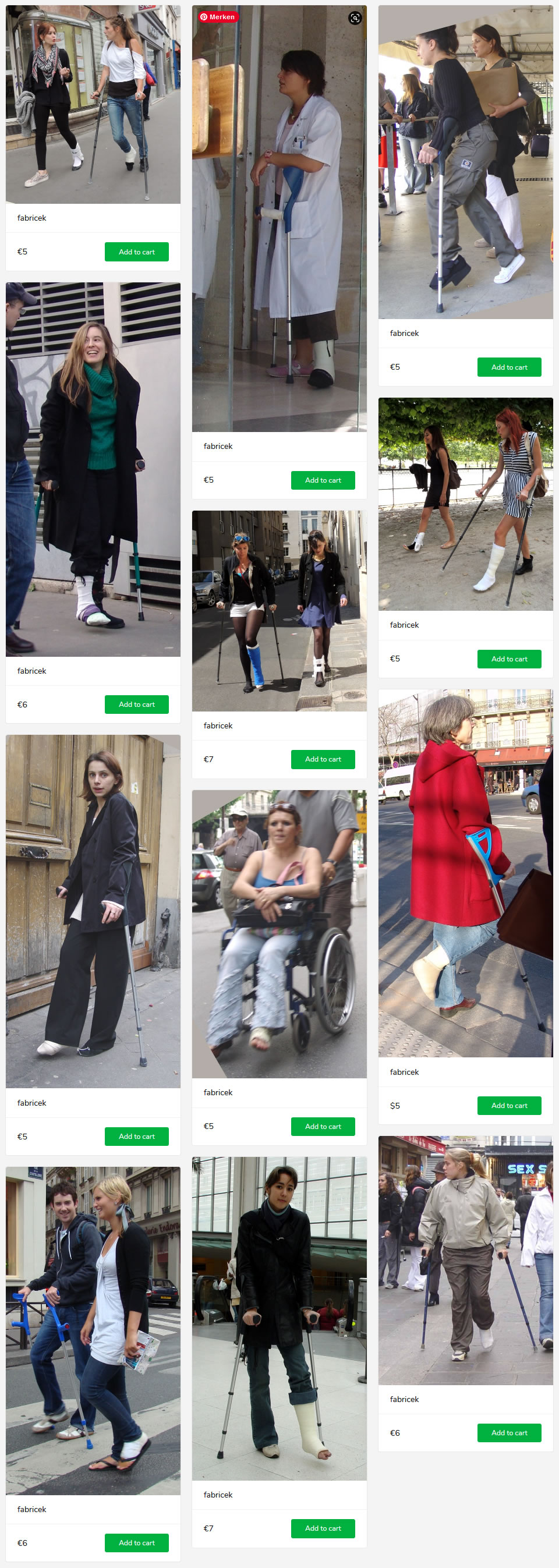 A bunch of new pictures and clips of immobilized girls, models and women. Wearing different casts, braces and bandages - crutching arround and in wheelchair...
