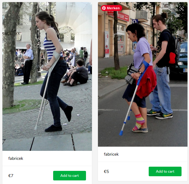 2 new sets (sprained girls on crutches in paris)