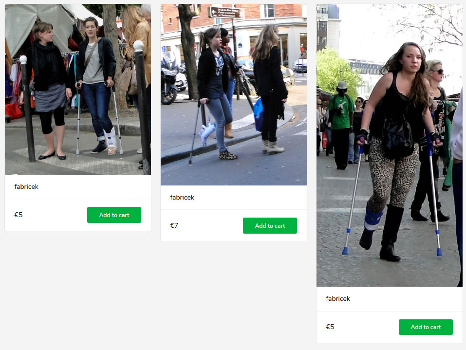 3 new sets: girls in braces on crutches