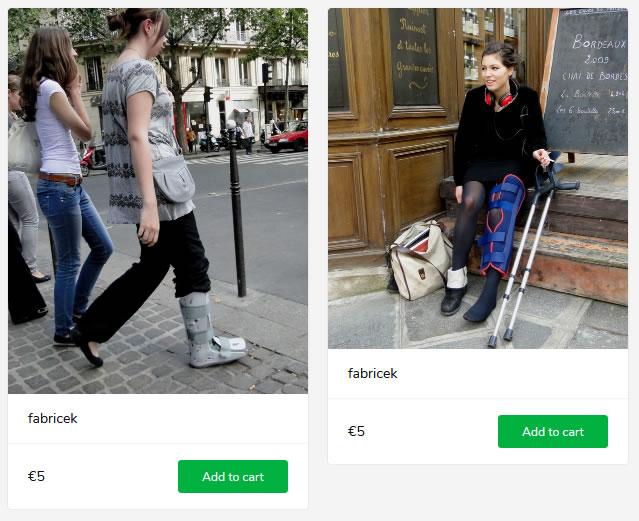 2 new sets: girl in aircast walker + girl in bulky kneebrace