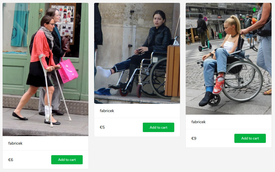 3 new sets: lady with ankle brace, woman with kneebrace in wheelchair, blonde girl with blue SLC in wheelchair.