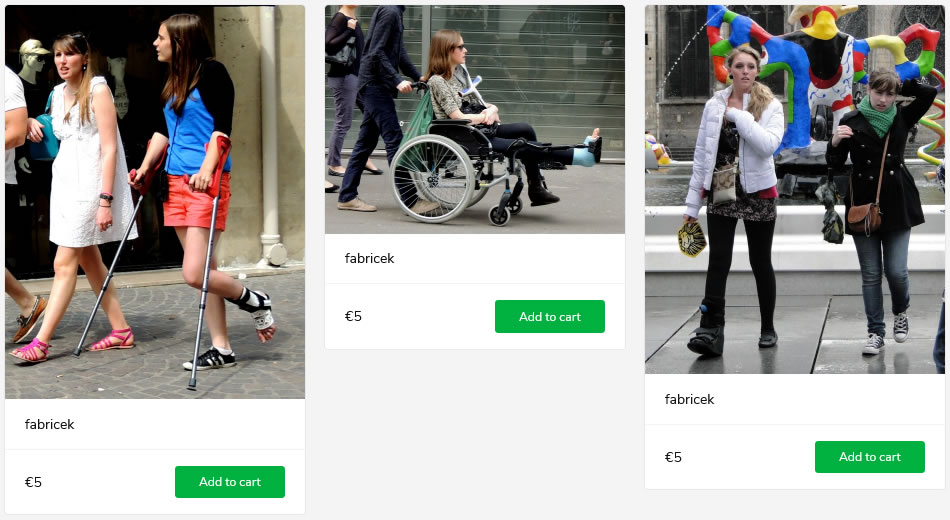 3 new sets of women - with anklebrace on crutches, with blue legcast in wheelchair, in aircast boot.