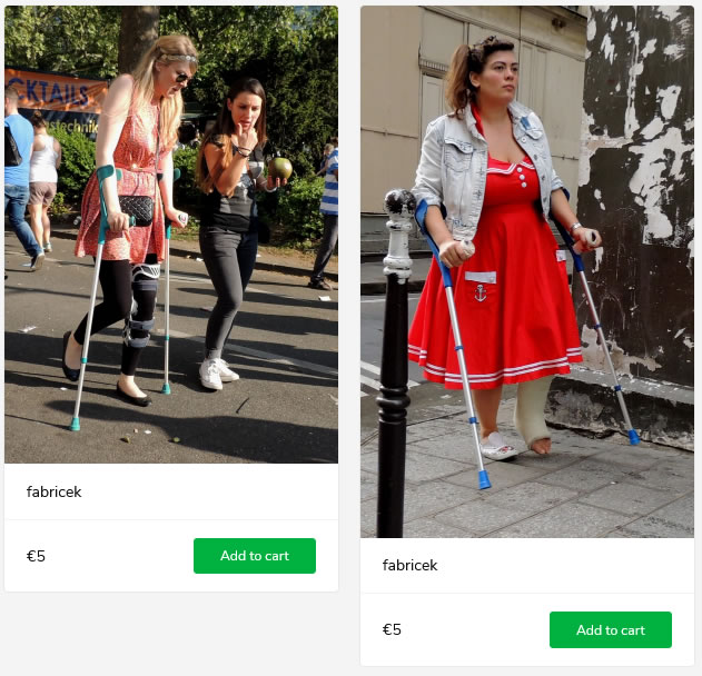 2 new sets - girl with kneebrace + girl with SLC, both on crutches
