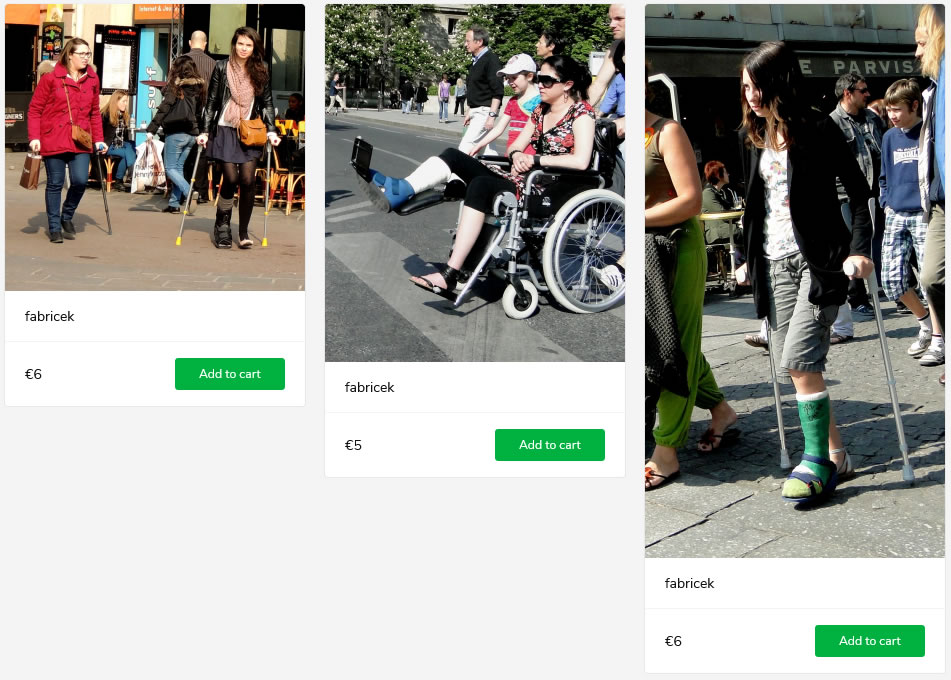 3 new sets: a girl with a thick, green short legcast (toes covered by sock) + woman beeing pushed in a wheelchair (even though she wears a castshoe) + woman with her right leg in walker on crutches
