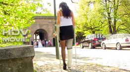 Gizela - white LLC with crutches and sock (HD Video)