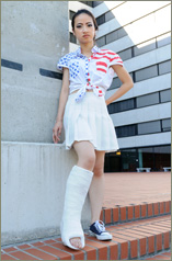 Tien in thick plaster legcast... (40 images in set)