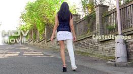Gizela in plaster long leg cast... (Video)