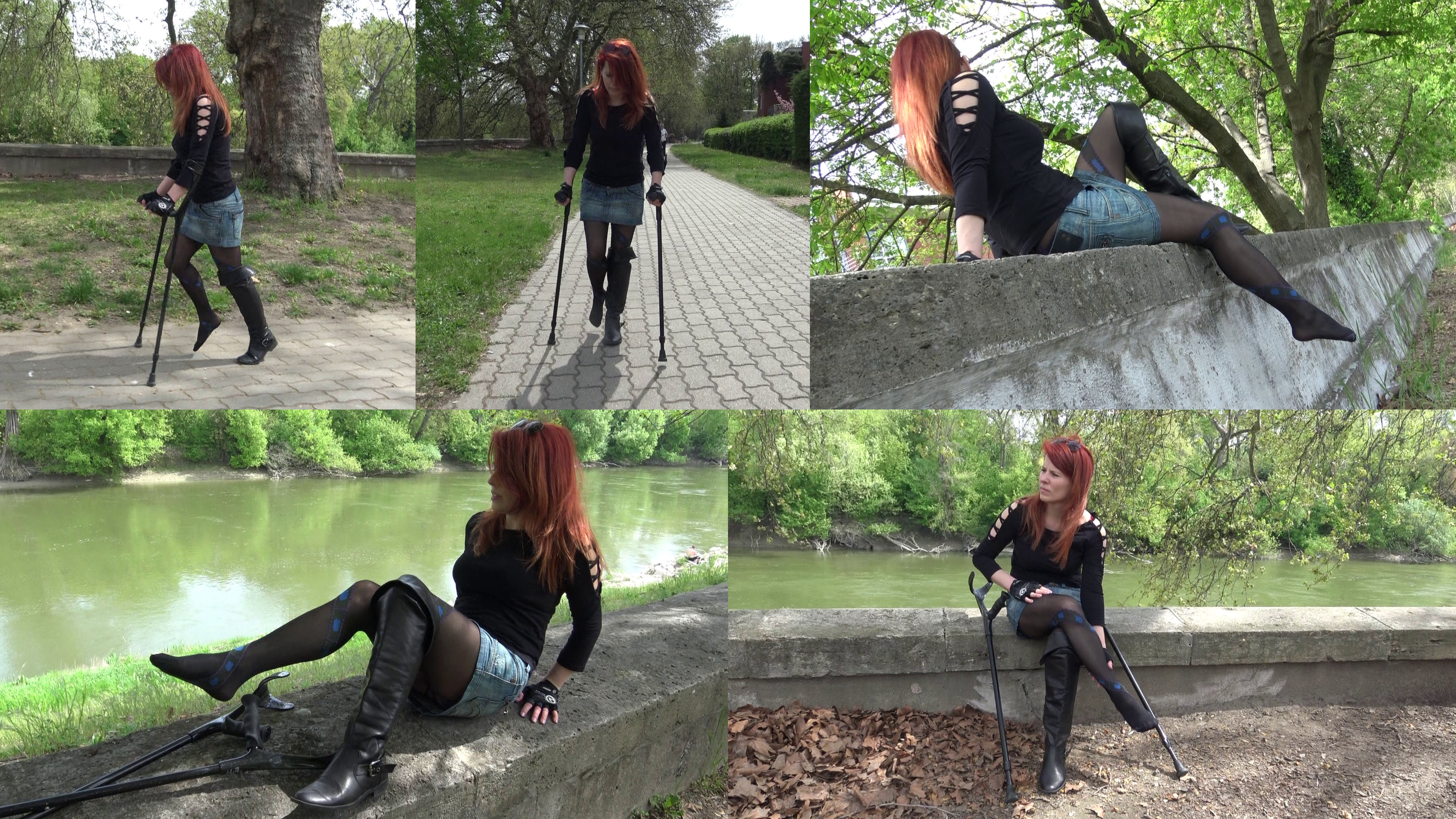 Norina - Norina is on her way to a party. She is on crutches, we follow her journey.