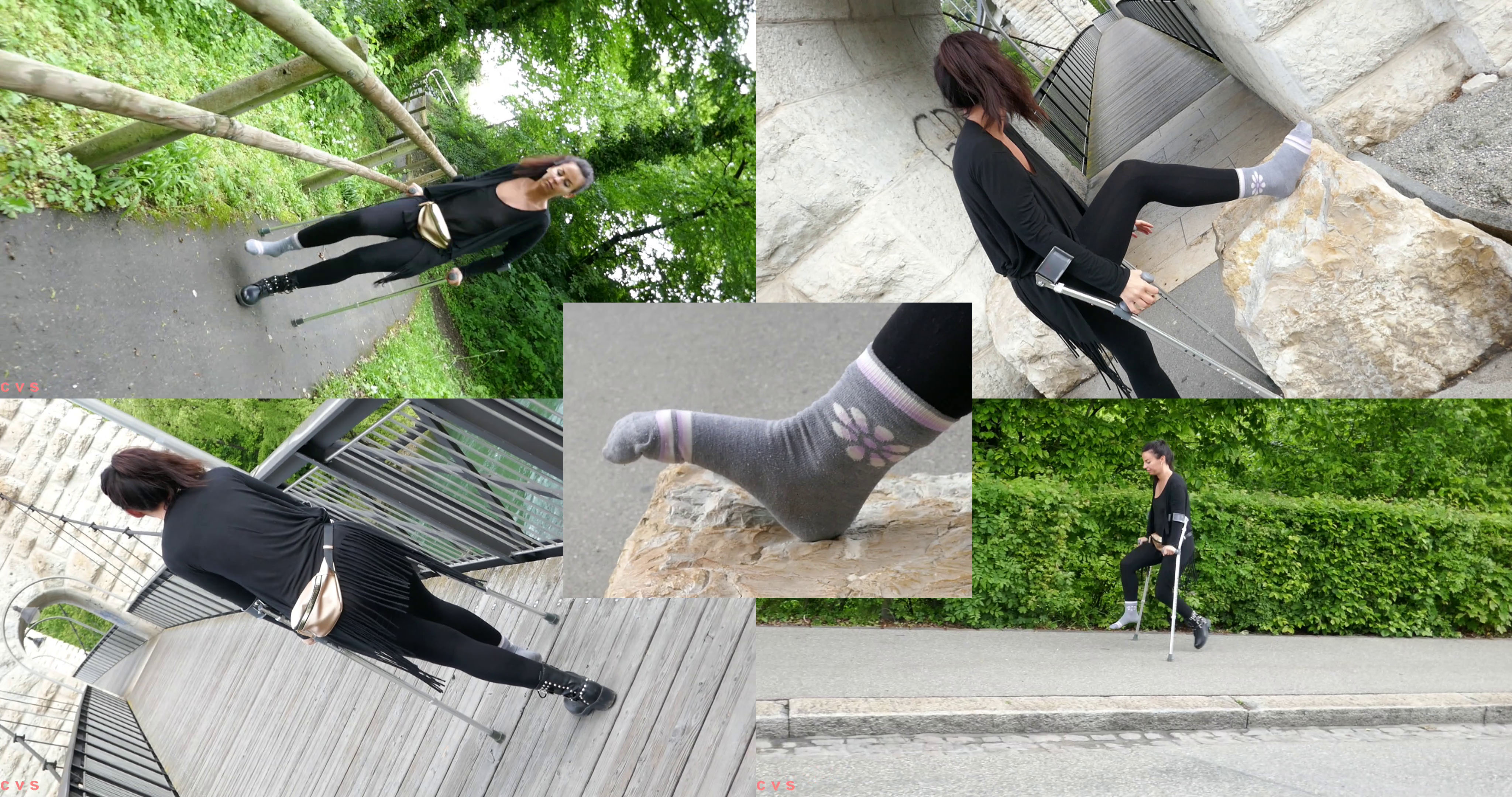 Gaby - Sprained in Switzerland: Gaby has a sprained ankle, but it doesn't stop her to go for seesighting. Follow her, enjoy! :)