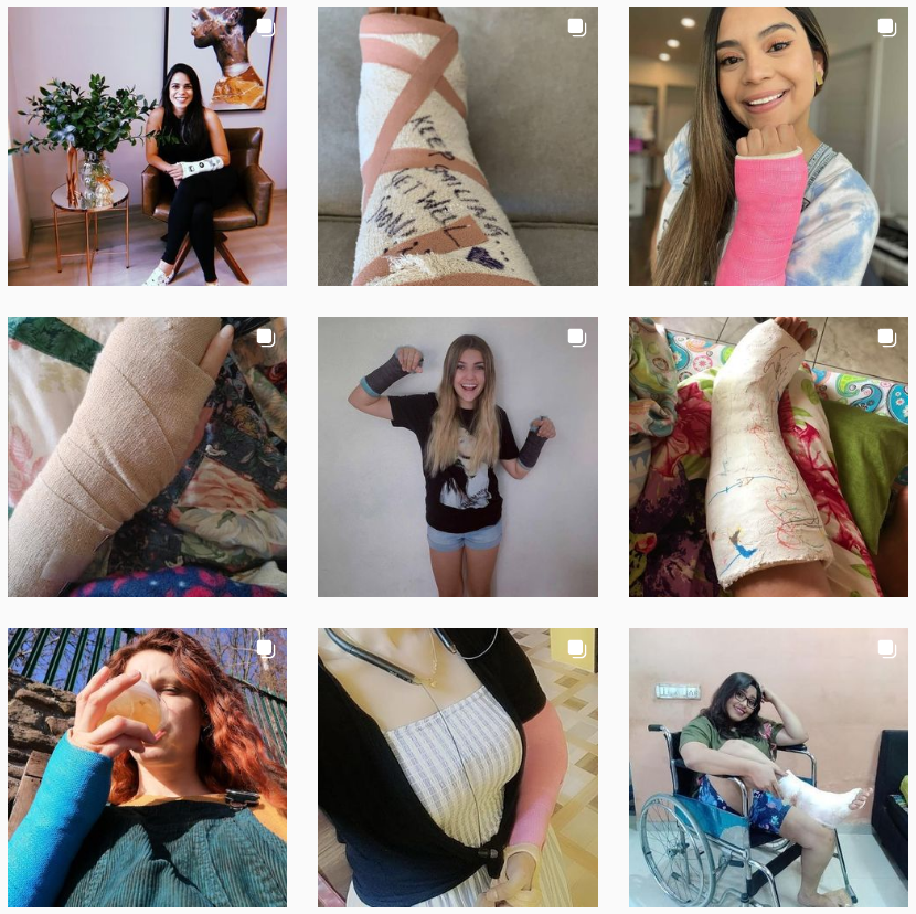 New webfinds - Girls in different types of casts...