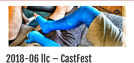 An exciting #CastFest with @castmande and @andrewithcast with my #llc and #crutches
