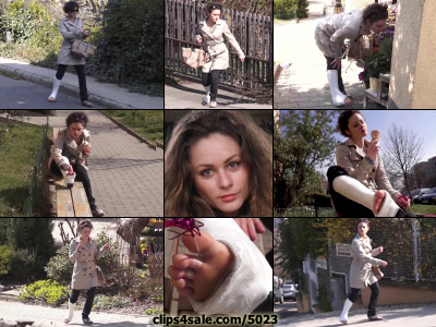 Zuzu Term SLWC - What's a poor casted girl to do dragging her gimpy casted leg around in a very hilly city, struggling up and down highly angled streets all day long in her plaster boot with her five wiggly toes sticking out of it. Why get some...